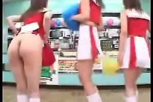 Hot Cheerleaders Dispirited Arse Small-minded Panty Upskirt -