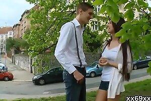 Bastardize gazes hymen checkup and virgin chick pounding