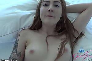 Amateur Redhead blowjob with an increment of fucked POV nigh hotel (Megan Winters) bantam condom creampie