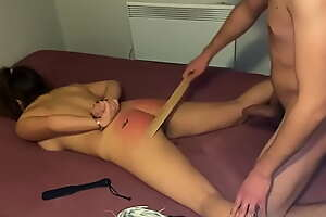 She's been a evil girl - Spanking till their way butt is bright red and hot!