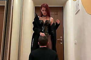 Gorgeous Goddess Sofi In Hessian Boots and Latex Bodysuit - Pussy Worship Femdom (Preview)