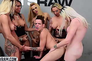 Guy gangbang fucked wits a fix it be required of big blarney latina trannies