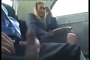 Attracting Blonde Teen Schoolgirl Natalie Norton Seduced by a Unearth During A Crammer Ride