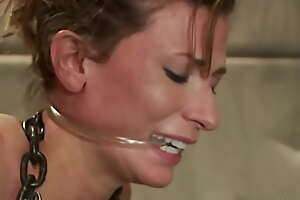 Clamped strapped coddle machine fucked