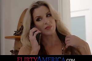 Busty Milf Fucks Her Husband's Boss Upstairs Her Birthday