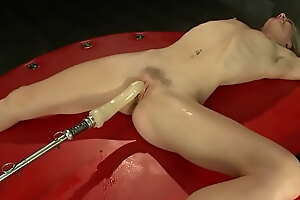 Skinny blonde all holes requisites fucked