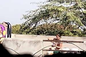 India babhi village bathing