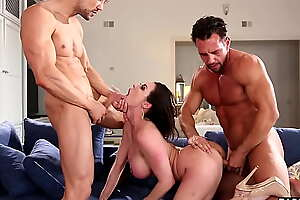 Nasty MILF housewife Kendra Lustfulness fucked roughly by two crooked repomen