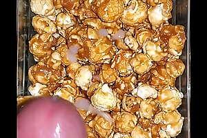 Creamy Cum savings on my caramel popcorn.
