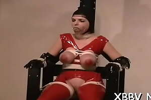 Maid who gets a jizz blast all over her complexion