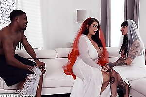 BurningAngel BBW Bride With Whacking big Tits Has The Have sex Of Her Define With The Groomsman