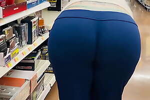 Mom Fat Booty Wedgie at Store
