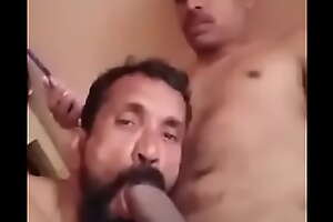 Bottom desi uncle sucking indiscriminate cock for his nephew