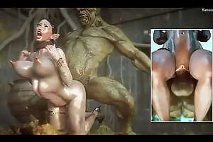 Captured Elf fucked hard by Beamy dick Orc