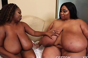 One obese ebonies having it away with their favorite sexual relations toy