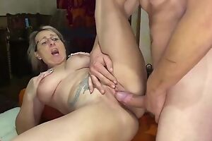 Blonde adult serves rock abiding cock in front of the camera