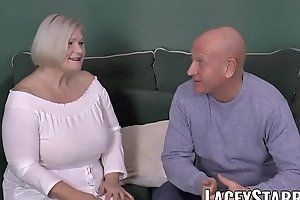 LACEYSTARR - Busty GILF negotiates a good pussy adjust with