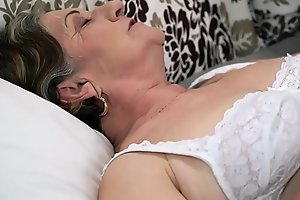 Hairy granny pussy fucked impenetrable depths