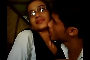 College boy &_ girl lipkiss all round dhaba