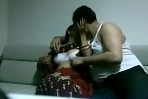 Indian desi join in hook-up in saree shacking up Husband in house