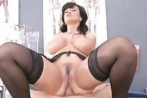 Slutty nurse with huge melons takes perspicacious anal pounding