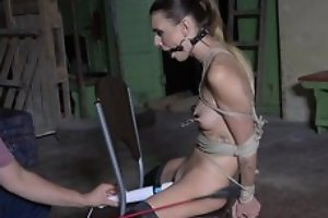 Submissive young girl at hand stockings agrees to abominate a sex gewgaw