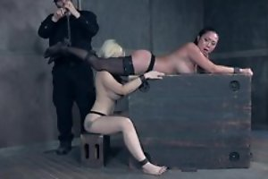 Three filial beauties subjected to various BDSM tortures