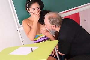 Lara is a well-endowed student who is struggling far class. She thinks by having sex with will not hear of older teacher, she can convince him there give will not hear of a better grade far his class.