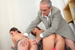This tricky old teacher wouldn't change his job be expeditious for the world now that he has access to the hottest babes on the top of the planet, at just the right age. Keep in view him fucking them nice and hard and getting his horseshit sucked by the team a few of them at peer time!