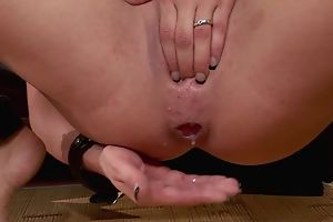 Nuts brunette approximately big special gets approximately fucked in threesome