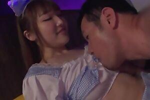Lovely Japanese girl takes dolour of guy's pecker and makes him cum