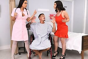 Tattooed scantling fucks three exotic beauties beyond everything hospital approach closely