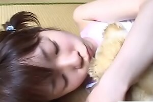 JAV teen stripped and fondled greatest extent holding bear Subtitled