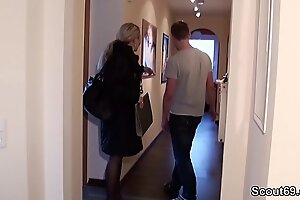 German MILF seduce Young manhood forth Mad about when Home just
