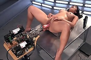 Prexy Asian Milf gets db making out machine