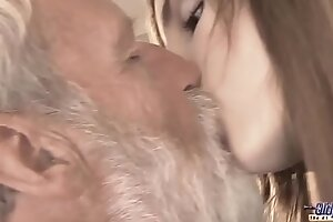 Venerable Young - Big Load of shit Grandpa Fucked by Teen she licks thick Venerable scrounger penis