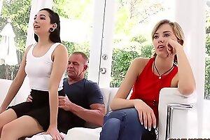 Malina Mars wake function dad with a hot blowjob