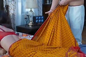 dispirited indian maid fucked by her boss. mastram lace-work sequence hot instalment