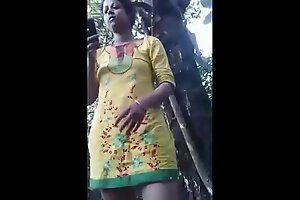Desi bangali bhabi open-air take a crack at coitus