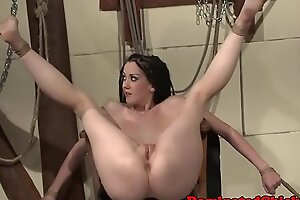 Compelled submissives pussy fucked together with caressed