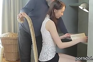 Cute schoolgirl was tempted and fucked wits say no to ancient teacher