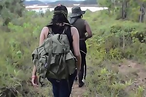 Crazy Latina jungle corps captures and bonks foreign females