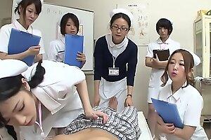 JAV nurses CFNM handjob oral-job sit-in Subtitled