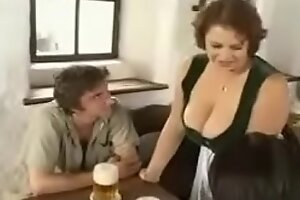 Hot BBW Mom old geezer young boys relating to bar (vintage)