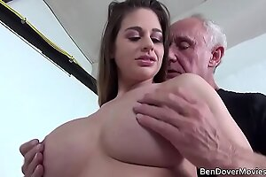 Cathy Heaven fucking with Old man Ben Dover