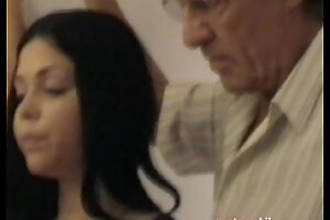 Elderly gropers juvenile girl's heavy mambos grabbed in foreign lands from daddy part1a