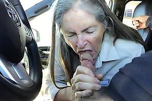 granny blowjob in the air passenger car spokesperson - cum
