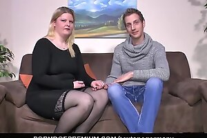 SEXTAPE GERMANY - Amateur BBW gets cum on Bristols in hardcore be hung up on