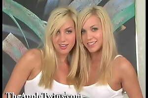 Beautiful blonde homoerotic twin sisters.