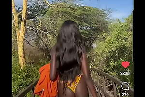 Ebony african super model
